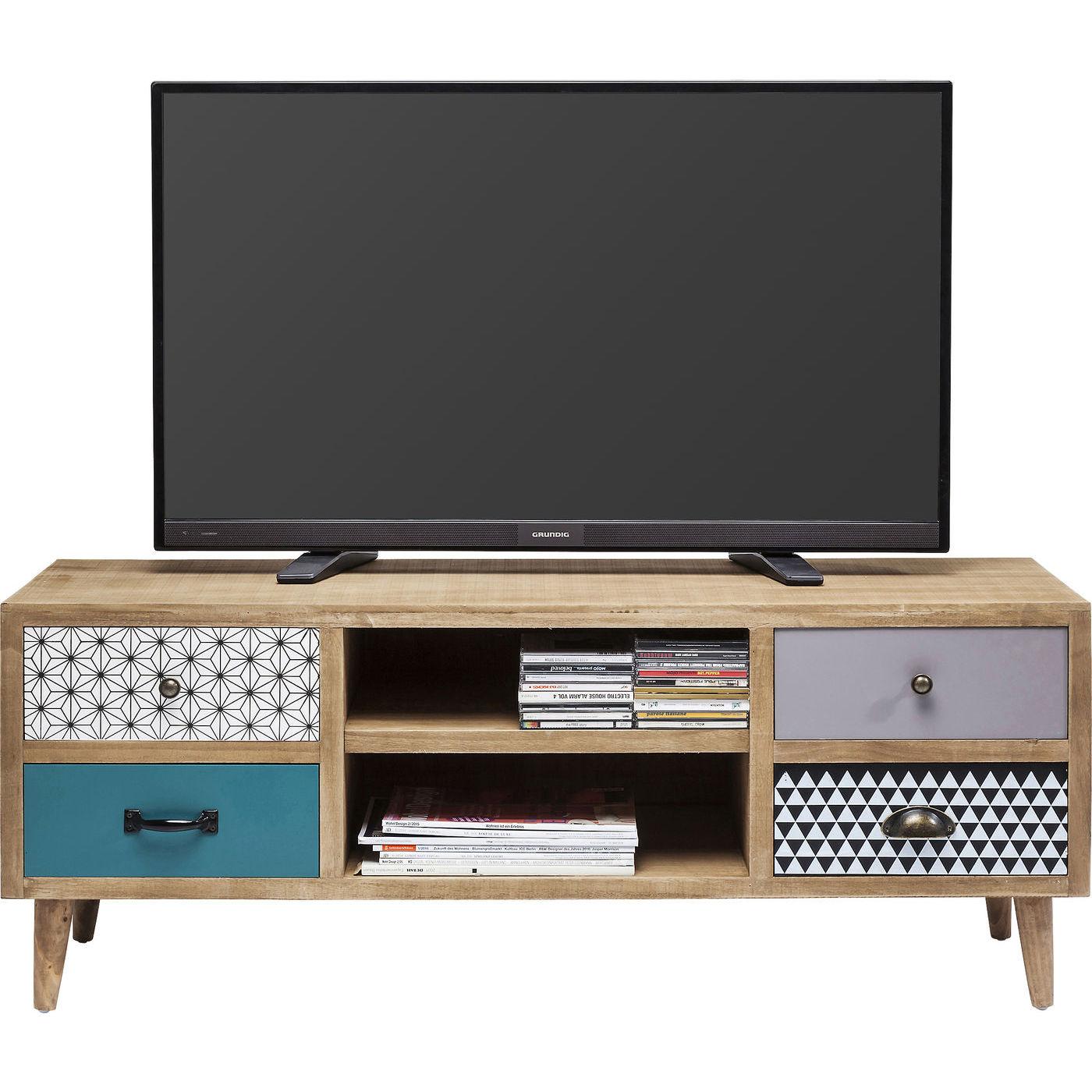 kare design Kare design capri tv-bord - lakeret træ, m. 4 skuffer på boboonline.dk