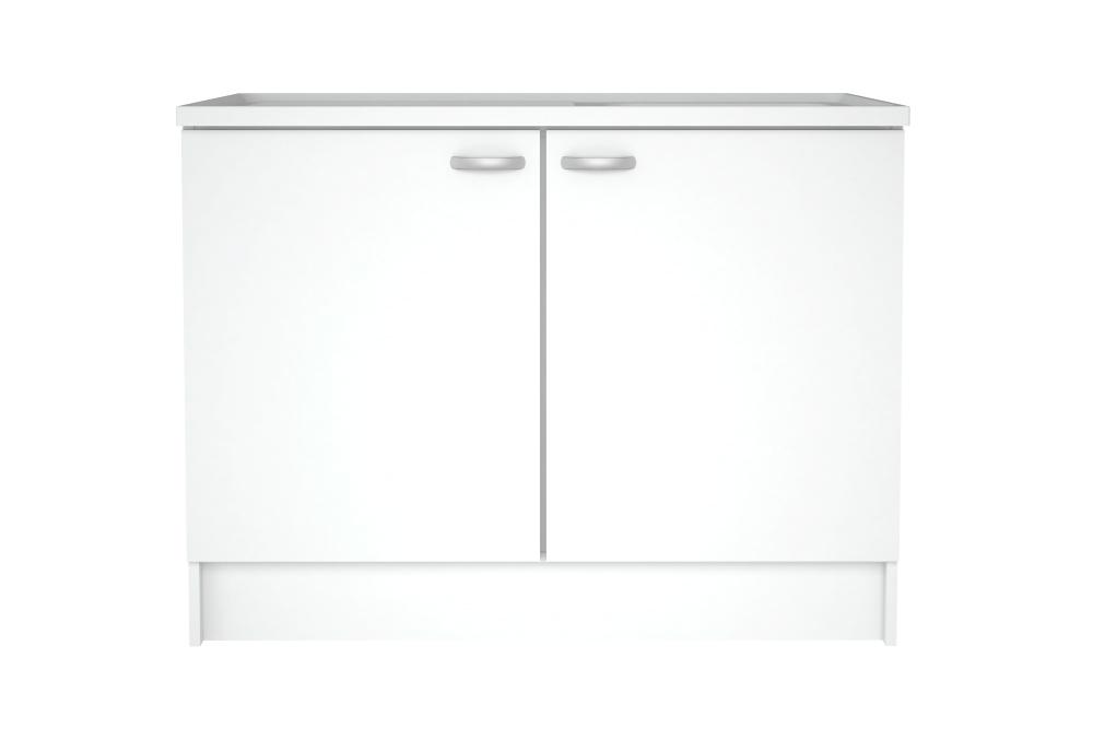Billede af Casa underskab i hvid med to låger og plads til vask
