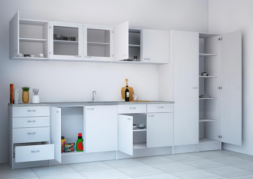 super l kkert casa overskab i hvid med to glasl ger. Black Bedroom Furniture Sets. Home Design Ideas