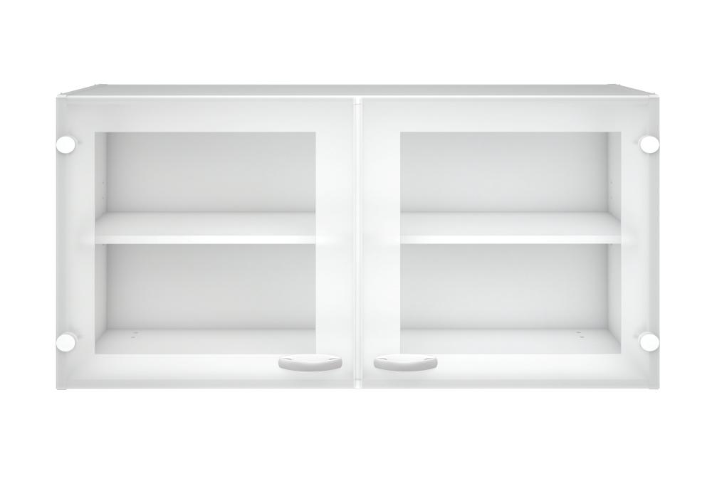 Billede af Hvidt Casa overskab med to glaslåger