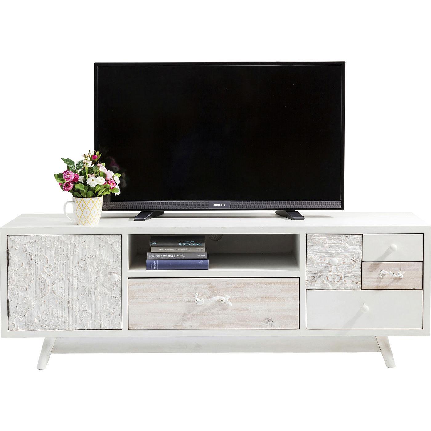 KARE DESIGN Sweet Home TV-bord - hvid MDF, m. 5 skuffer