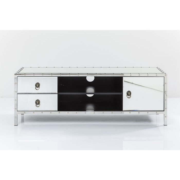 KARE DESIGN Rivet TV-bord - spejlglas og MDF, m. 2 skuffer