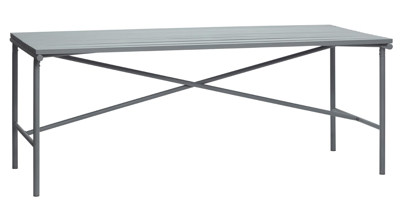 hübsch H?bsch spisebord - grå metal, rektangulær (191x92) på boboonline.dk