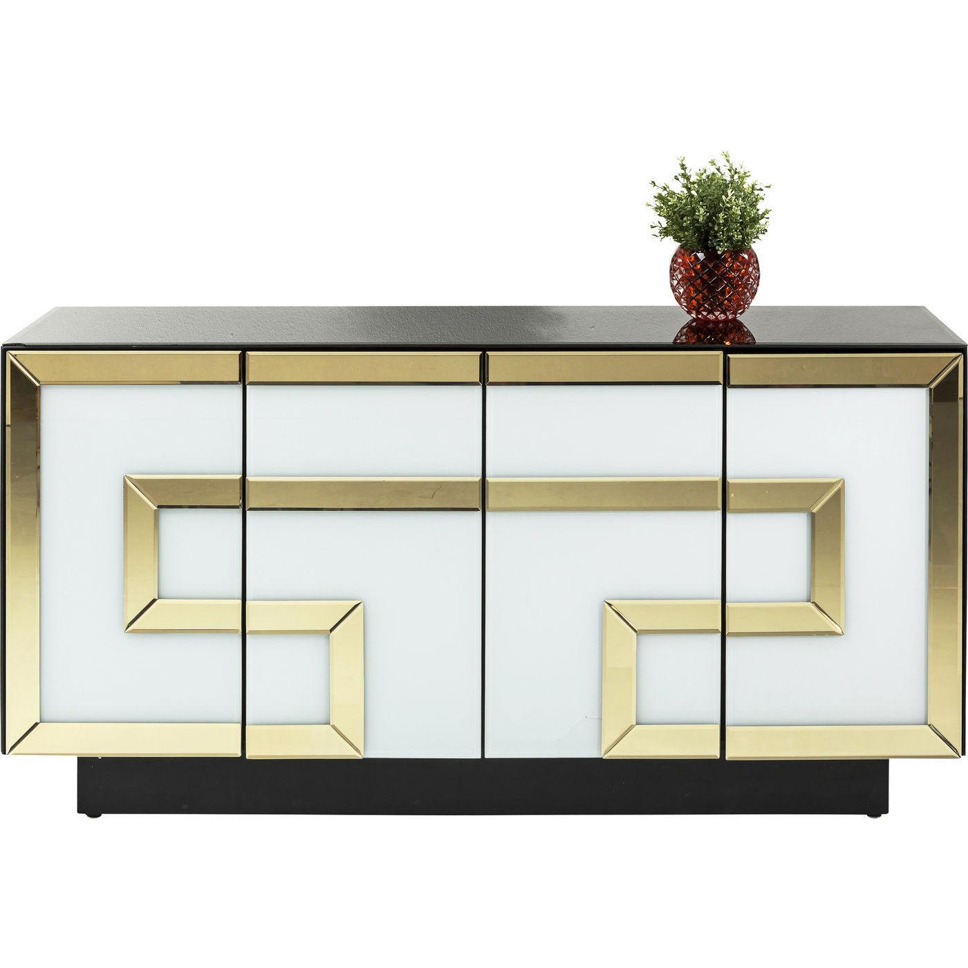 Kare design elite skænk - hvid og guld glas fra kare design fra boboonline.dk