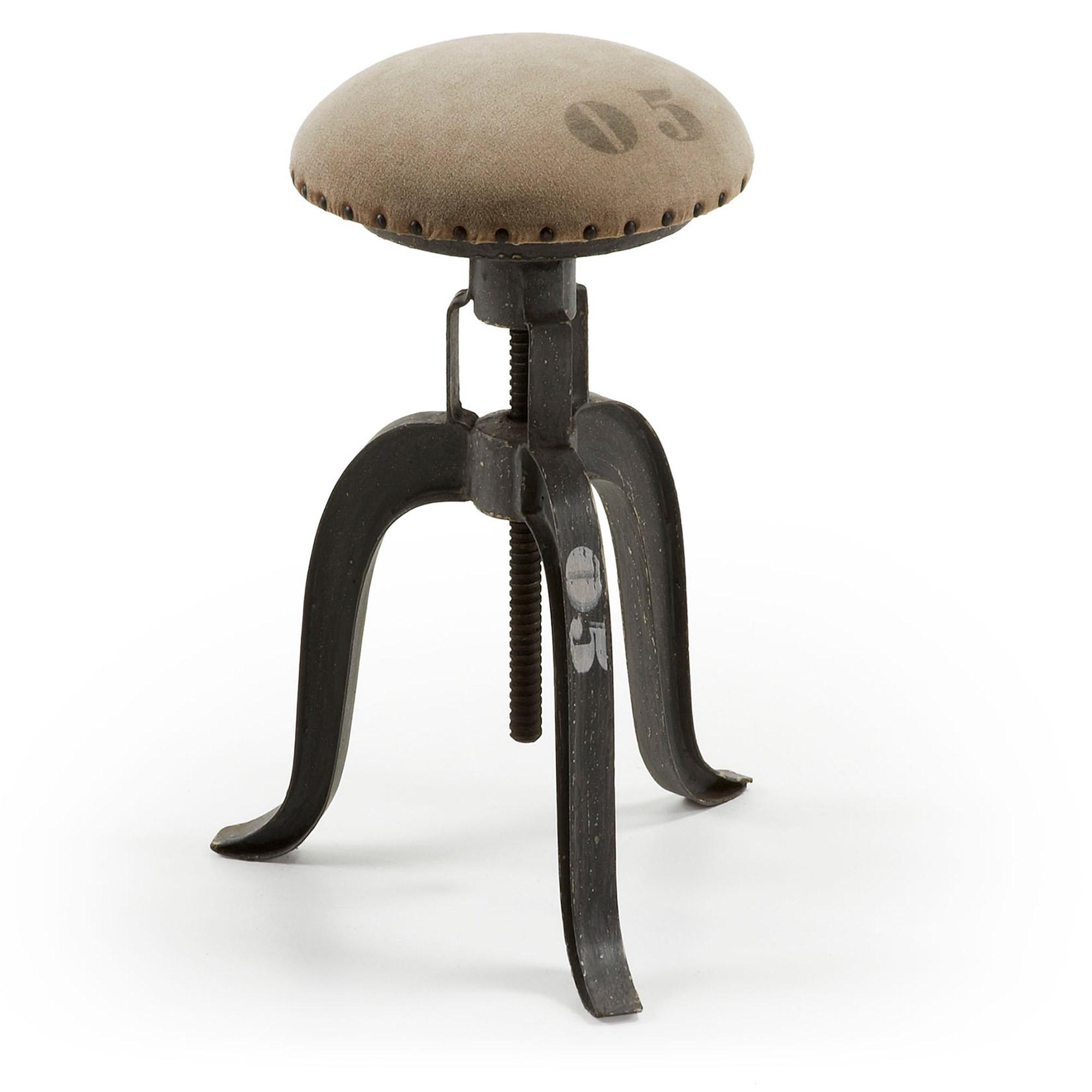Laforma einner barstol - beige/mørkegrå canvas/metal fra laforma på boboonline.dk