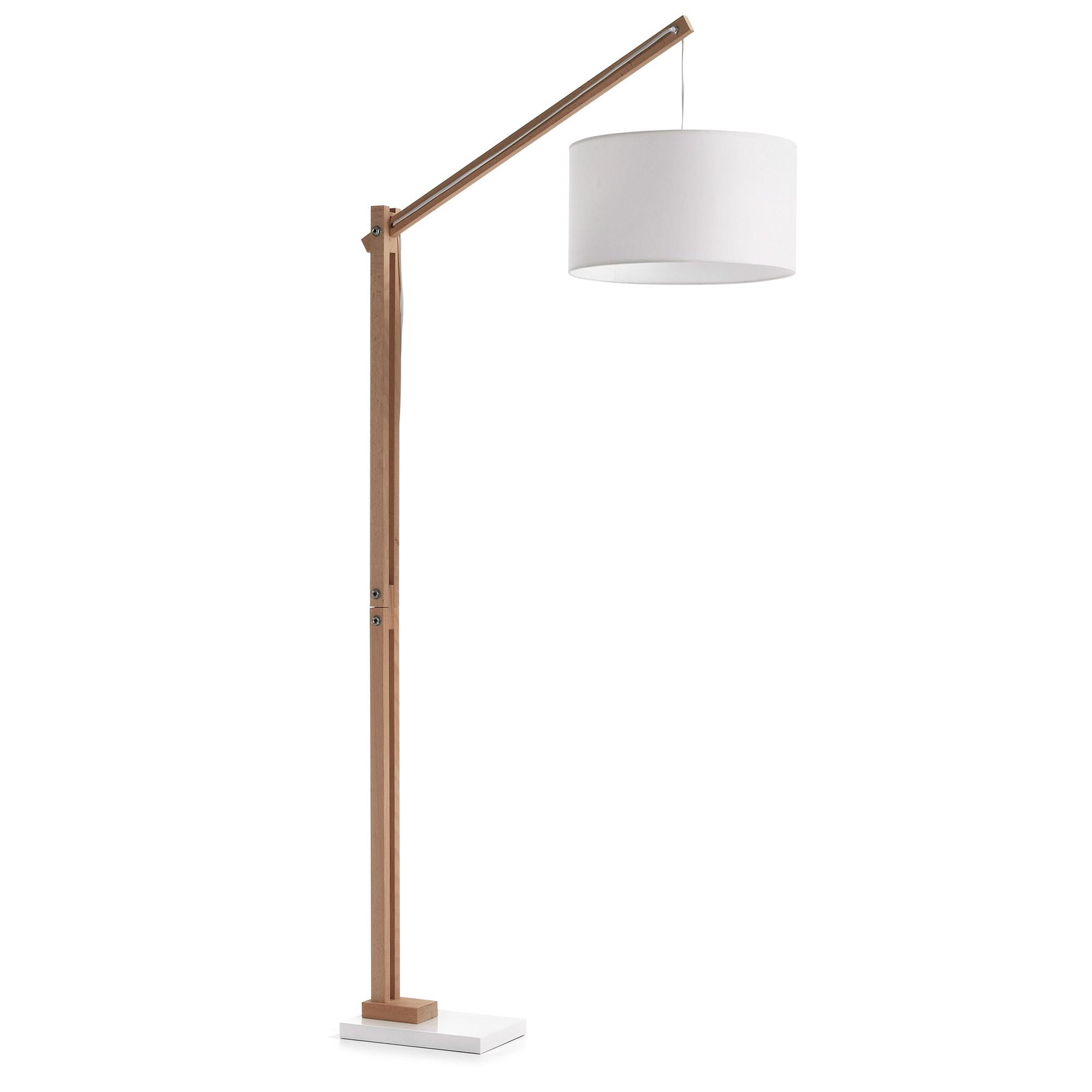 Laforma izar gulvlampe - natur træ og hvid metal/bomuld fra laforma på boboonline.dk