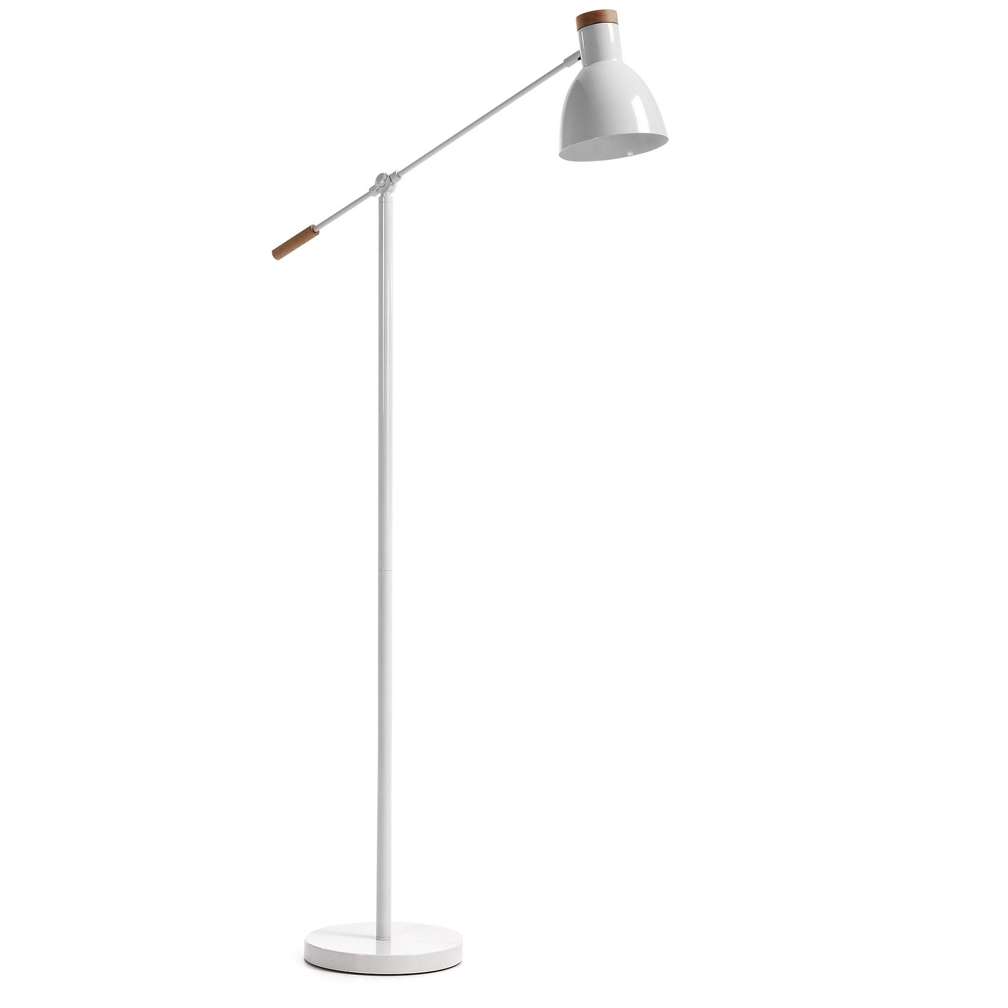 Laforma scarlett gulvlampe - hvid/natur metal/træ fra laforma på boboonline.dk