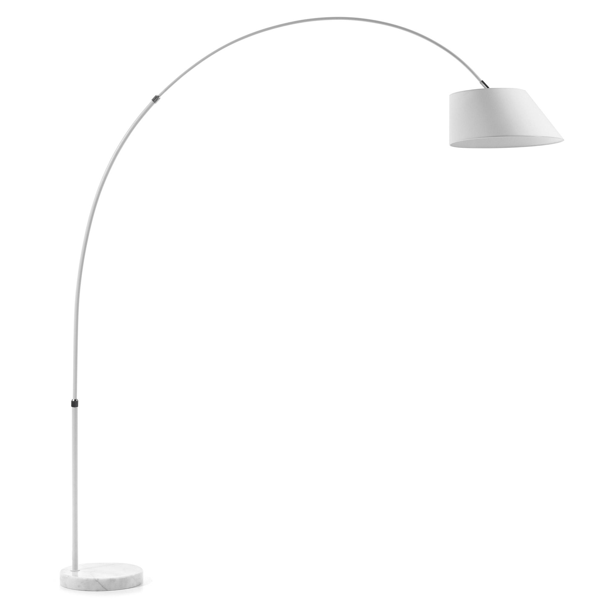 Laforma lee gulvlampe - hvid metal/marmor/stof fra laforma fra boboonline.dk