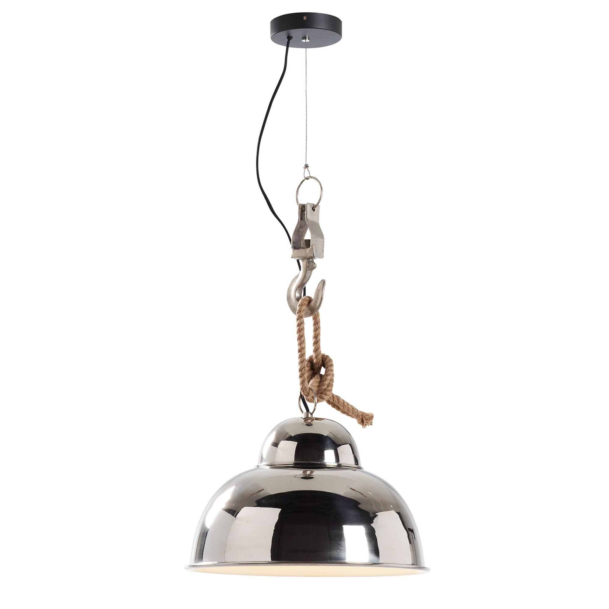 laforma – Laforma ginger loftlampe - sølv metal, rund (ø38) på boboonline.dk