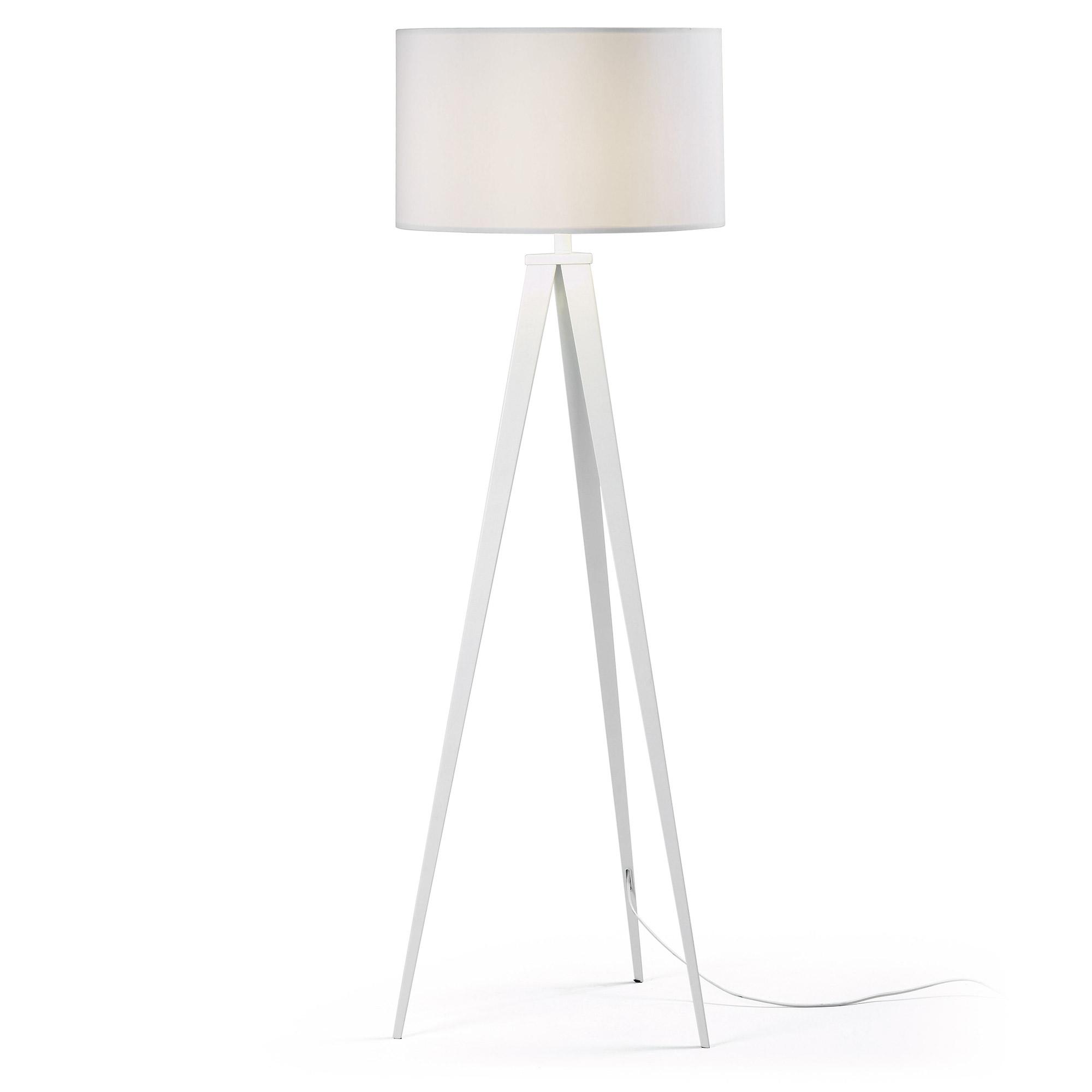 laforma – Laforma uzagi gulvlampe - hvid metal/stof på boboonline.dk