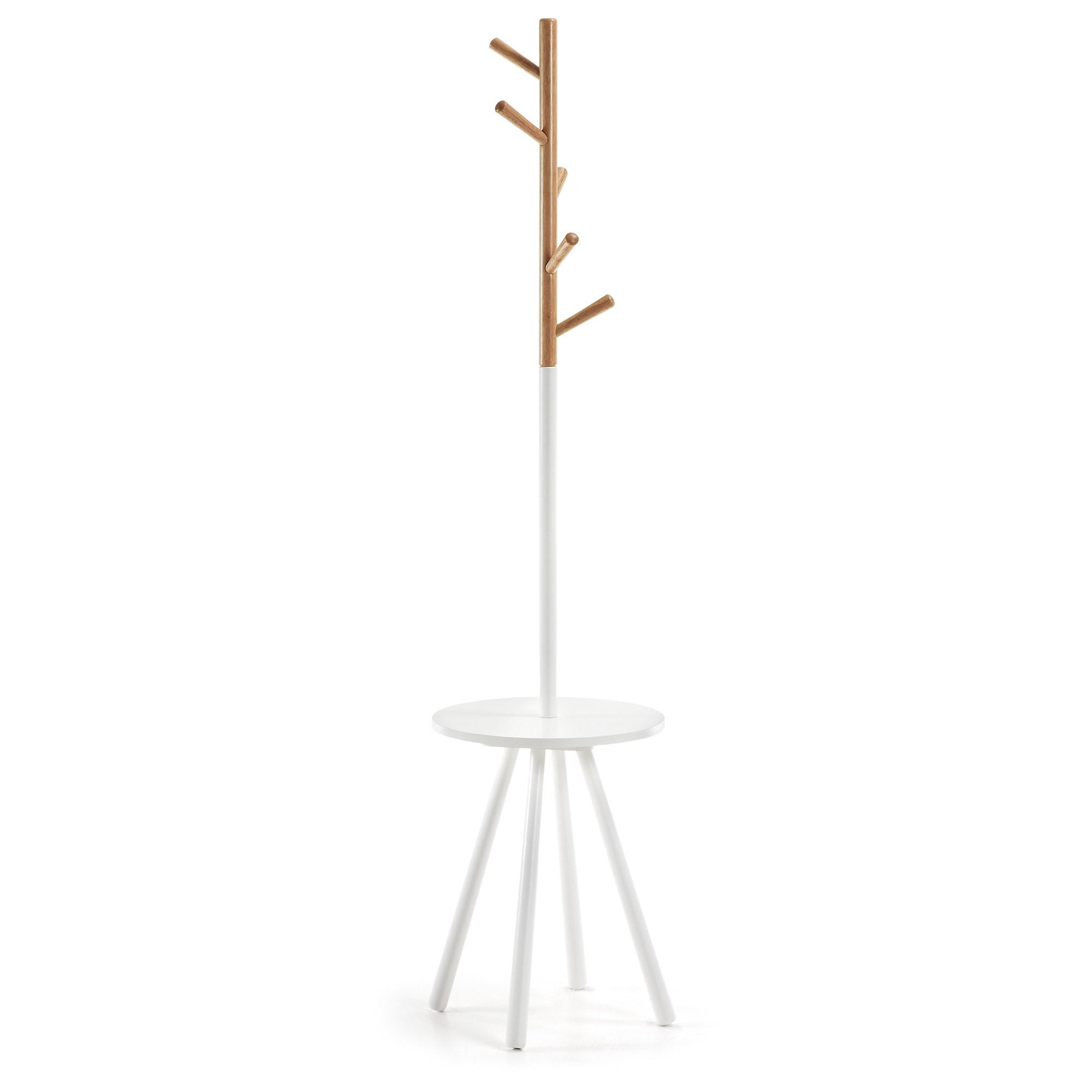 LAFORMA Bren stumtjener - natur/hvid træ