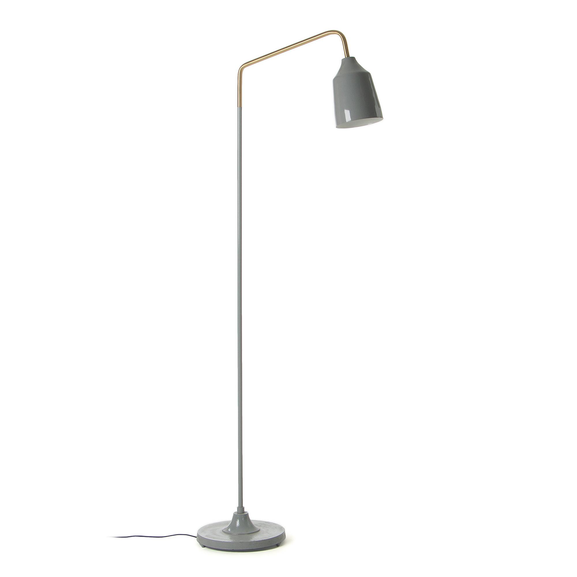 Beck gulvlampe - grå metal