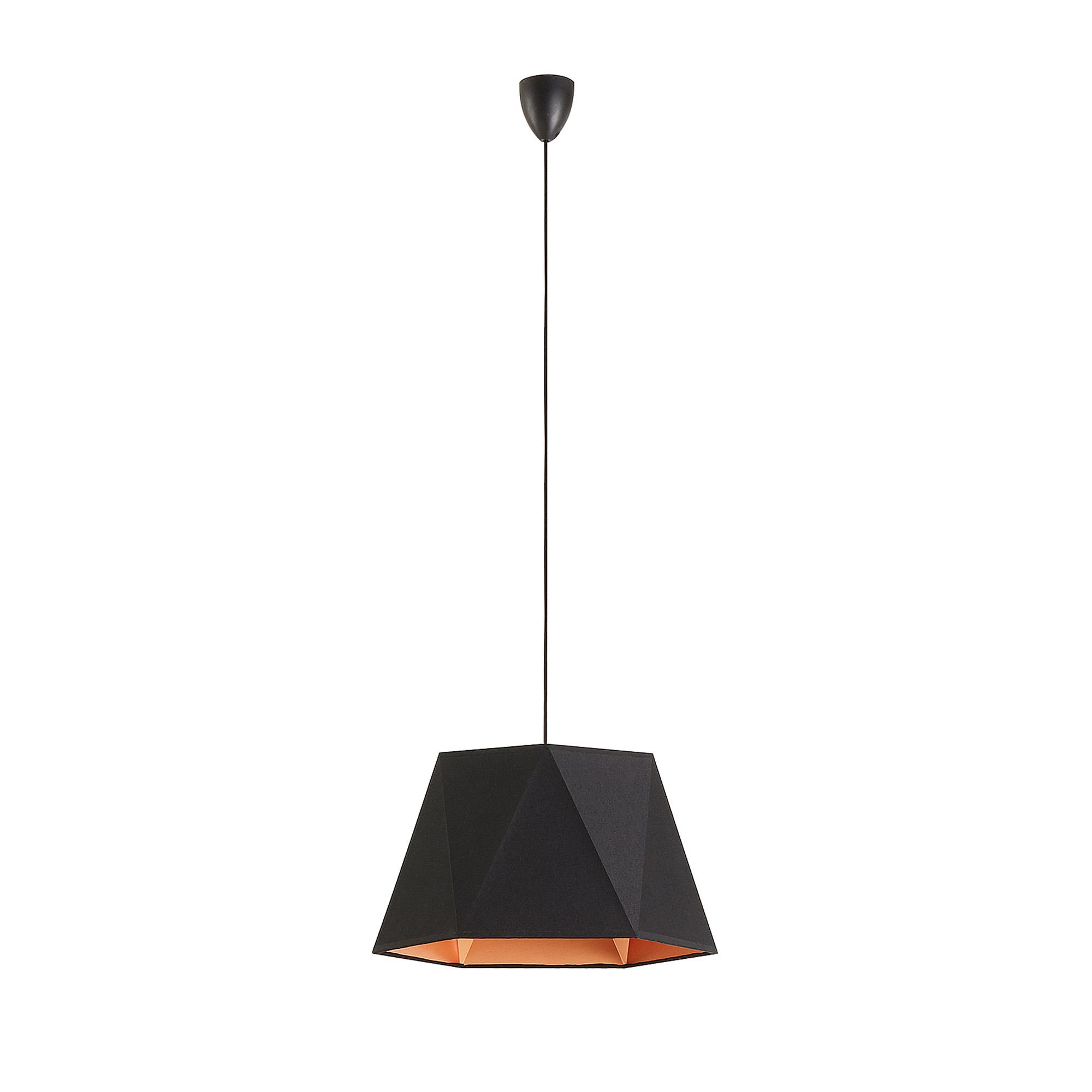 laforma – Laforma neil loftlampe - sort/kobber stof/metal fra boboonline.dk