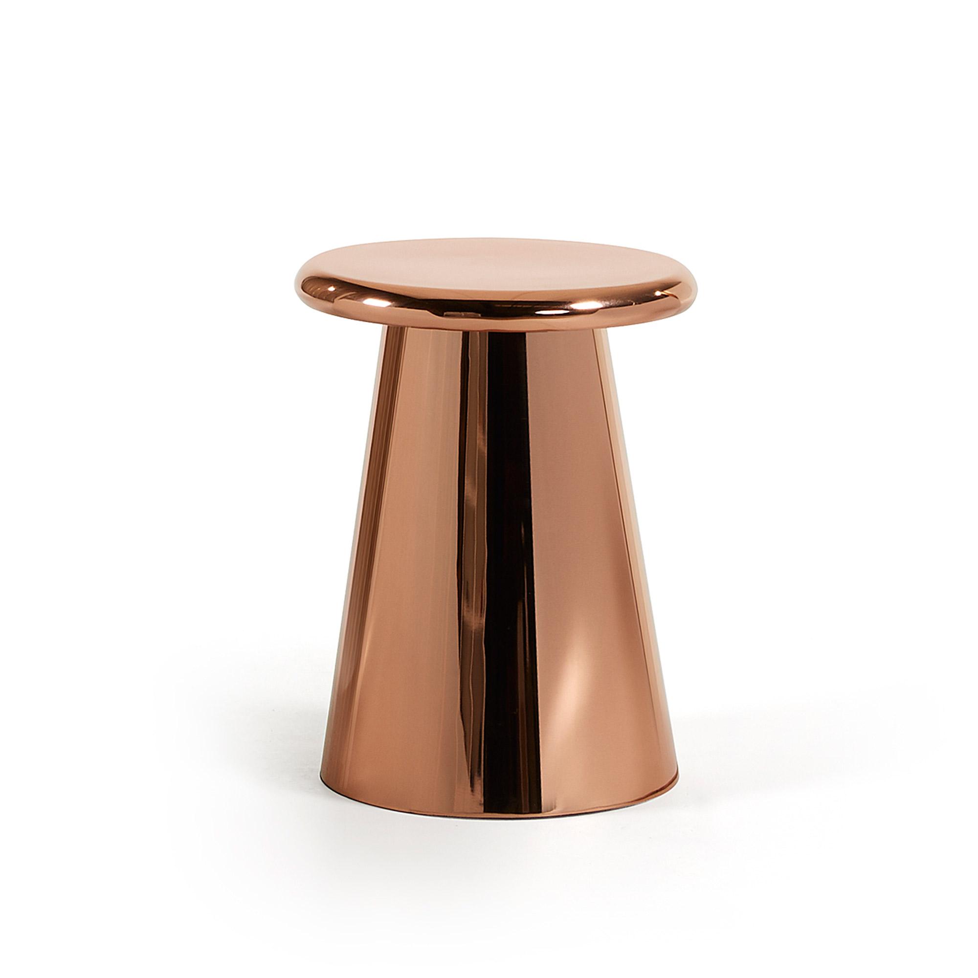 Phil sidebord - kobber metal, rund (Ø41)
