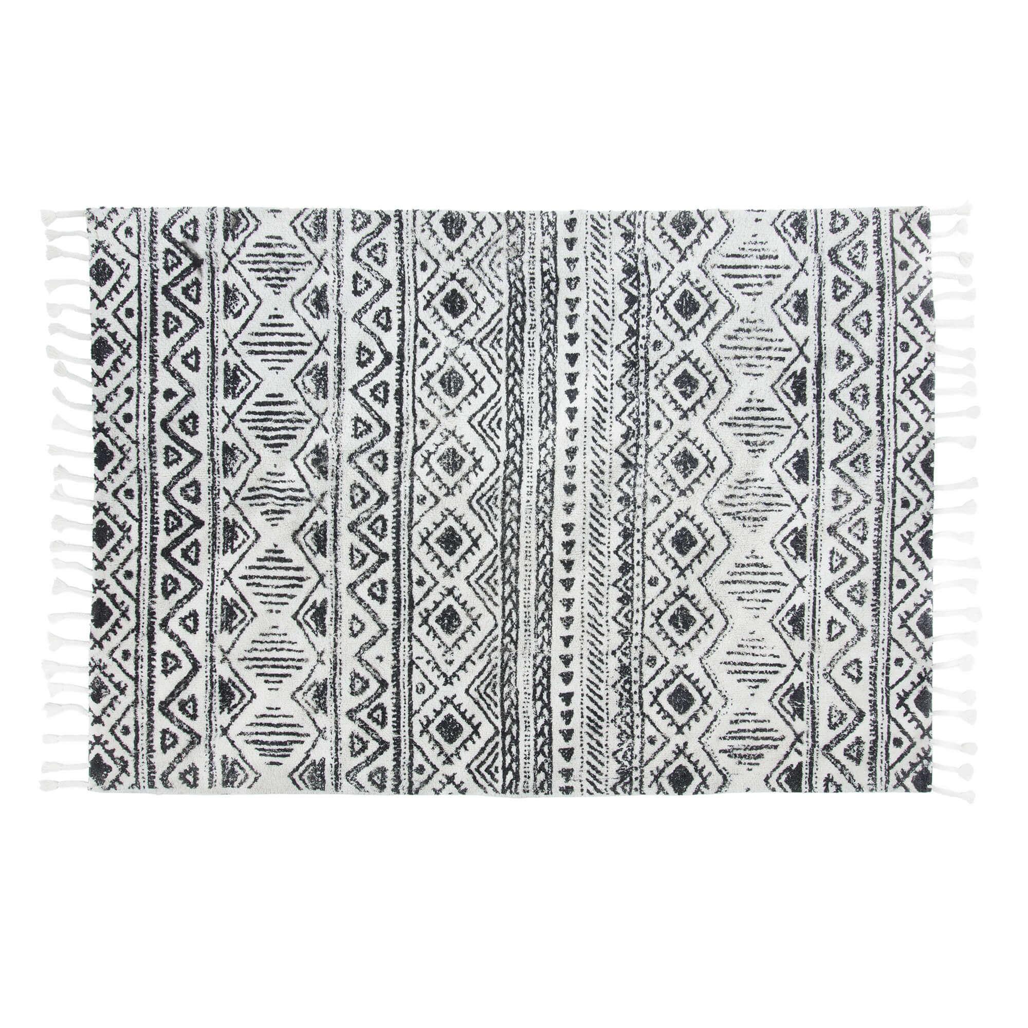 Laforma coos gulvtæppe - sort bomuld, rektangulært (230x160) fra laforma fra boboonline.dk