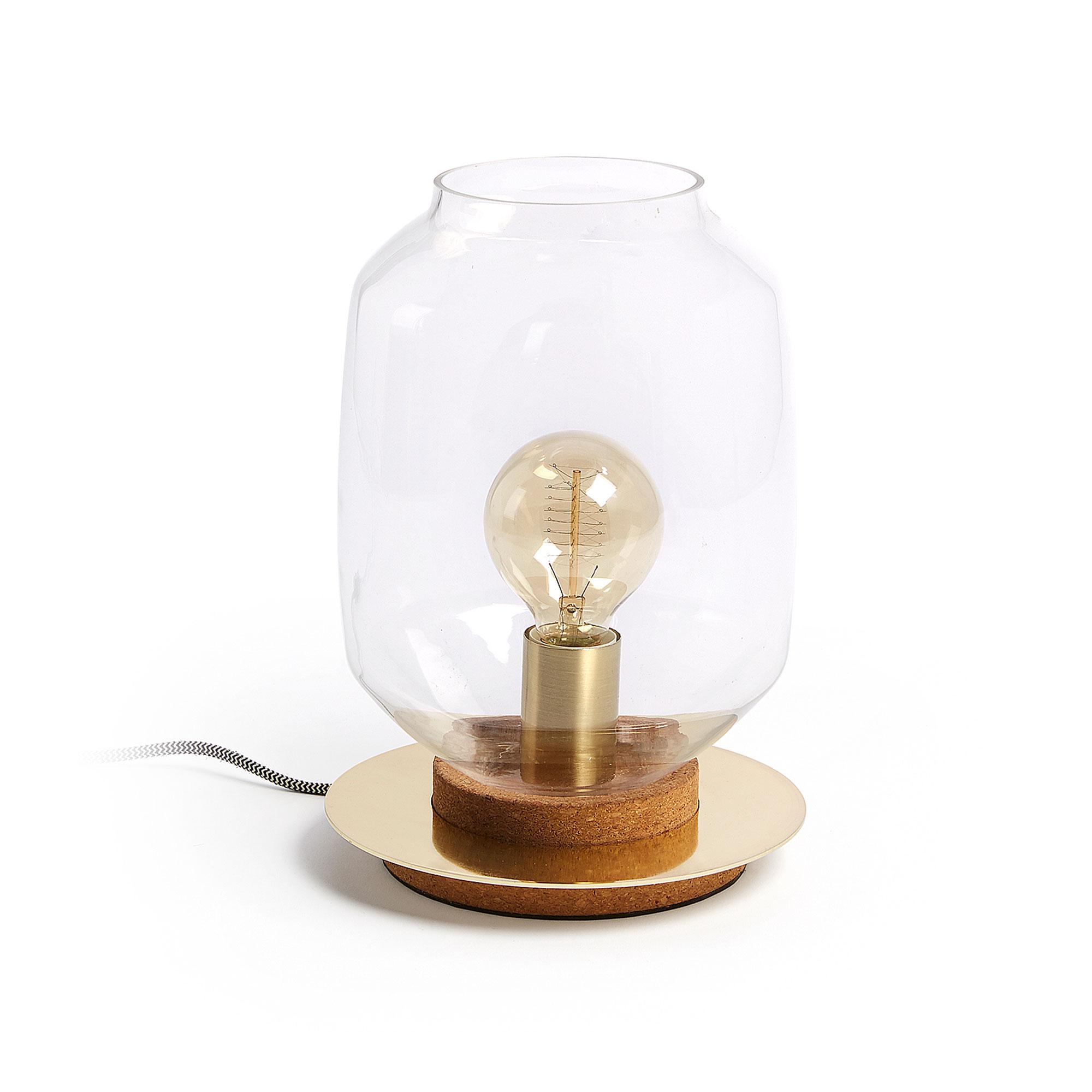Laforma mery bordlampe - messing/klar metal/glas, rund (ø19) fra laforma fra boboonline.dk