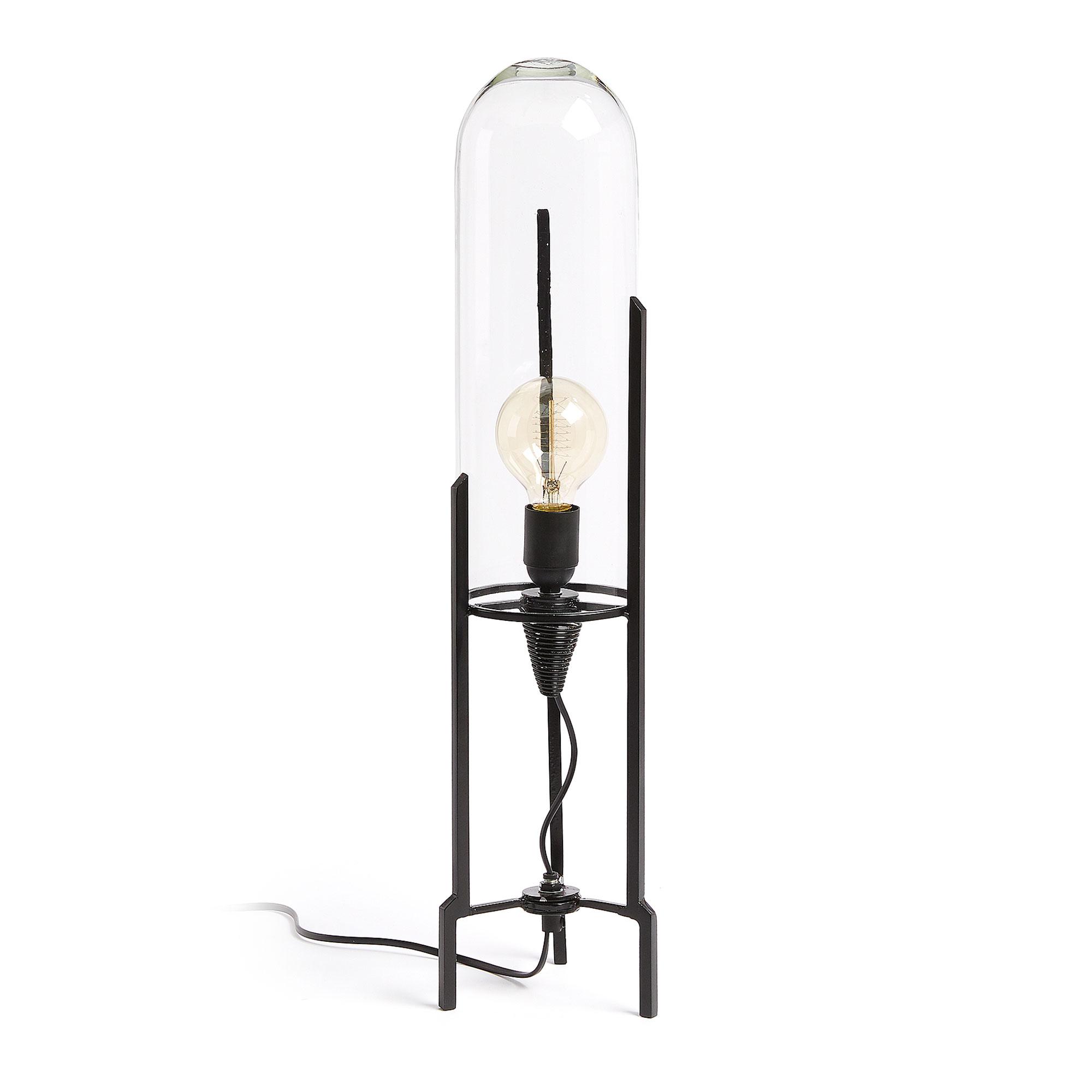 laforma Laforma chatanui bordlampe - sort/klar metal/glas fra boboonline.dk