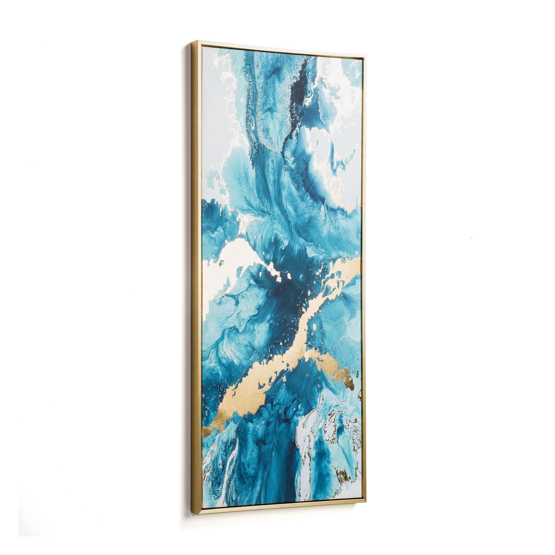 Laforma rektangulær iconic billede - multifarvet papir og træ (120x50) fra laforma på boboonline.dk