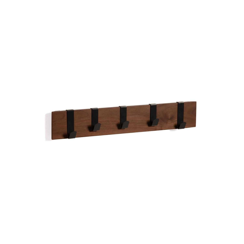 LAFORMA Mahdis knagerække m. 5 kroge - brun egetræsfiner og sort metal