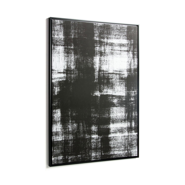 laforma – Laforma rektangulær yukon billede - hvid og sort lærred og sort træ (120x80) på boboonline.dk