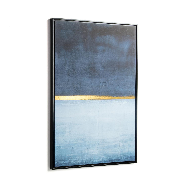 laforma – Laforma rektangulær wrigley blue billede - multifarvet papir og træ (90x60) på boboonline.dk