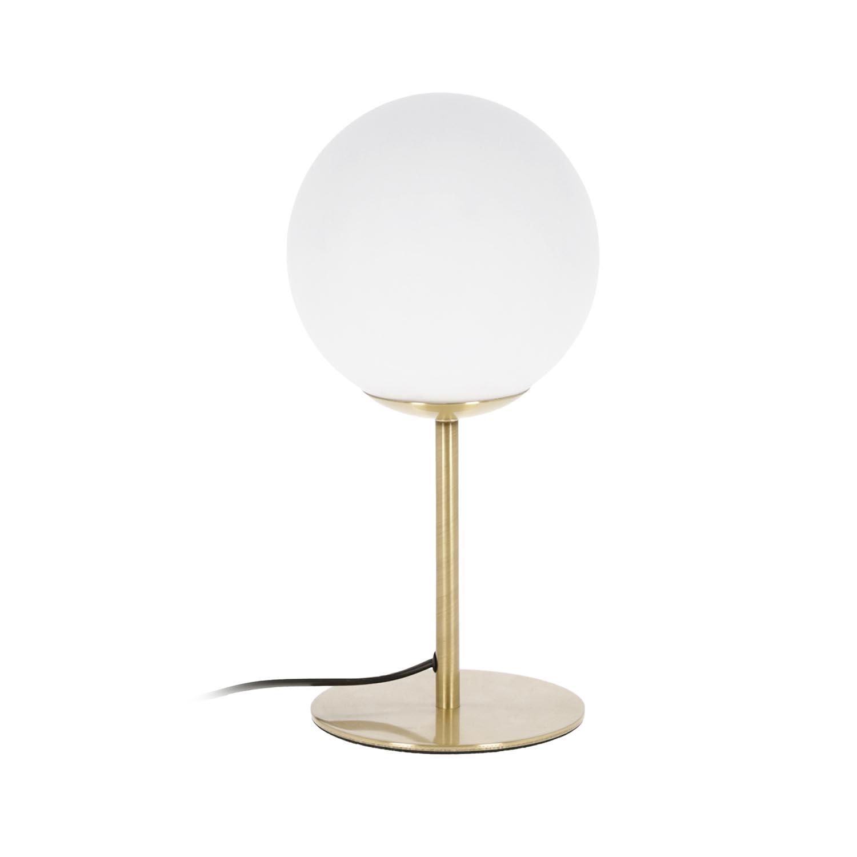 Laforma mahala bordlampe - hvid glas og messing stål fra laforma på boboonline.dk