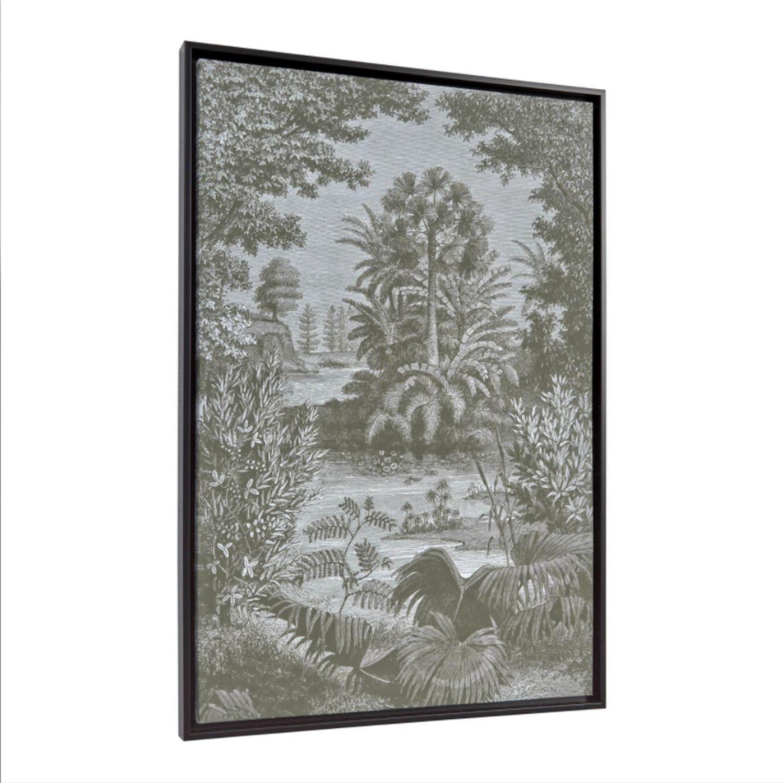 LAFORMA rektangulær Bamidele billede - grå/grøn kanvas og MDF (60x90) thumbnail