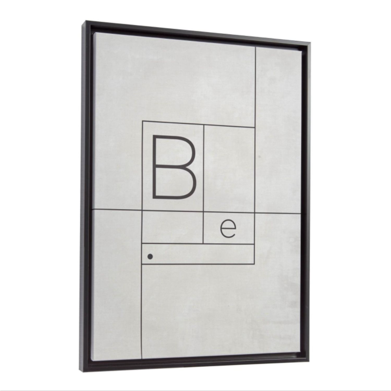 LAFORMA rektangulær Myrthe billede - sort/hvid kanvas og MDF (50x70) thumbnail