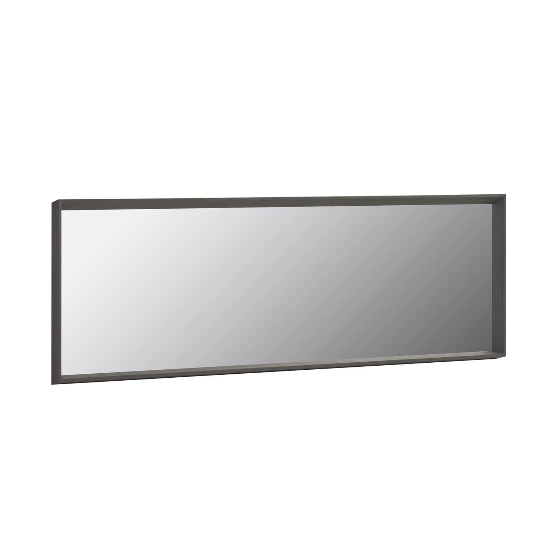 Billede af LAFORMA Nerina spejl, til væg/gulv, m. ramme - mørkt valnød MDF og spejlglas (52x152)