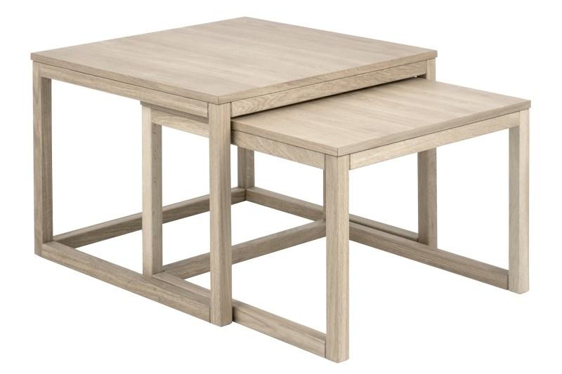 Cornus sofabordssæt - egetræ (sæt à 2 stk)