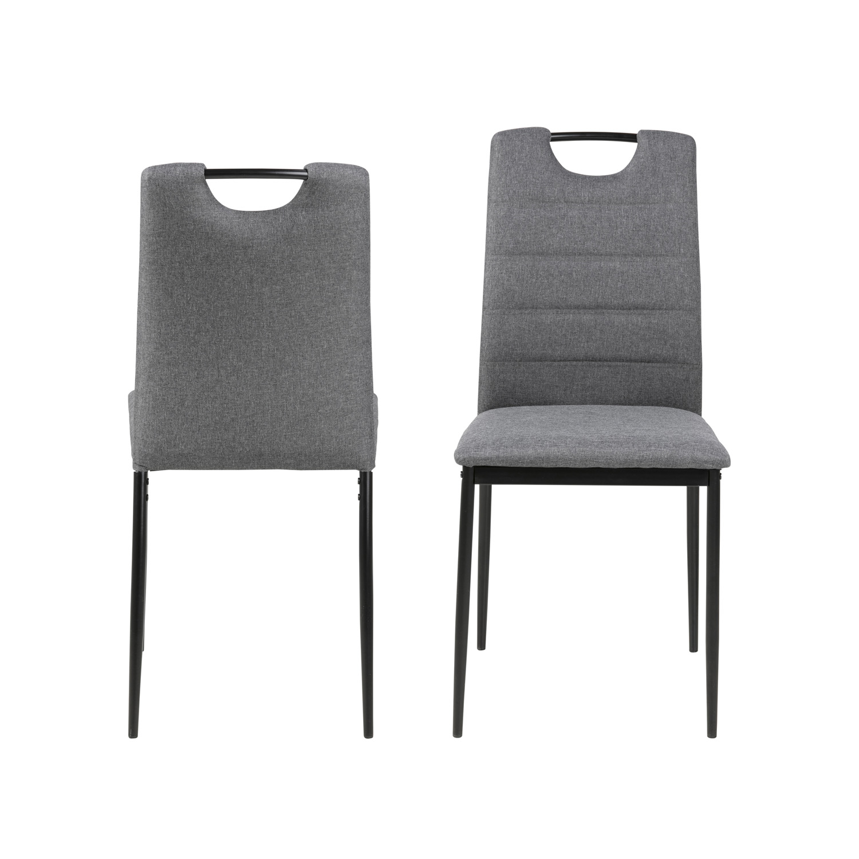 ACT NORDIC Dia spisebordsstol - grå stof og sort metal
