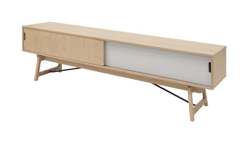 Image of   EIK TV-bord - Egetræ, m. 2 låger