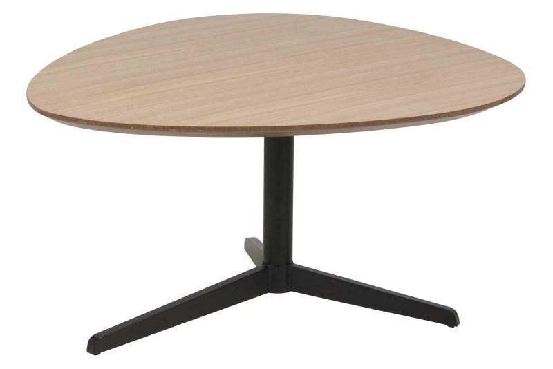 Barnsley sofabord - egetræsfinér/metal