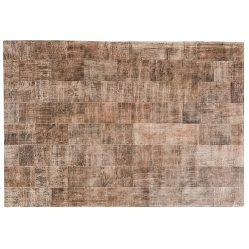 FUHRHOME Ankara tæppe, håndlavet, ægte læder (120x180cm)