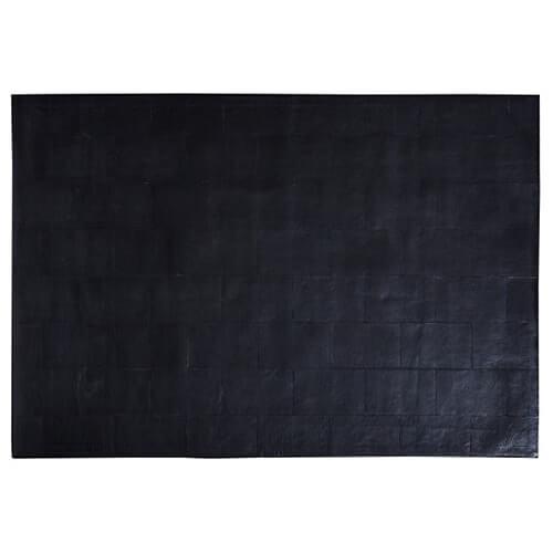 FUHRHOME Athens - sort læder tæppe (120x180cm) thumbnail
