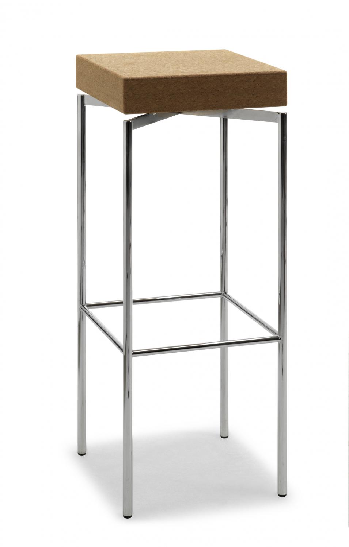 Jensenplus blackbox barstol, krom, top: kork fra jensenplus fra boboonline.dk