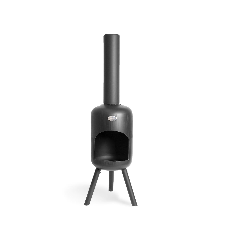 Billede af BONFEU Bonbini BIP udepejs - sort stål, inkl. grillrist (H:117 cm)