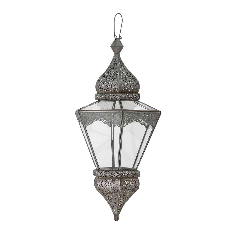 Køb BLOOMINGVILLE Isabell lanterne, til ophæng – grÃ¥t metal og glas