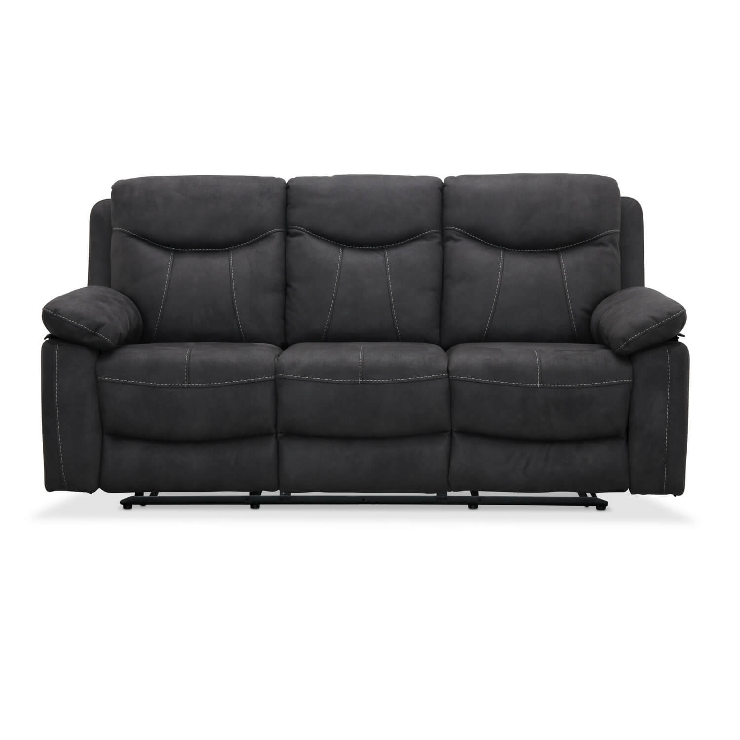 Boston recliner 3 personers biograf sofa, grå stof