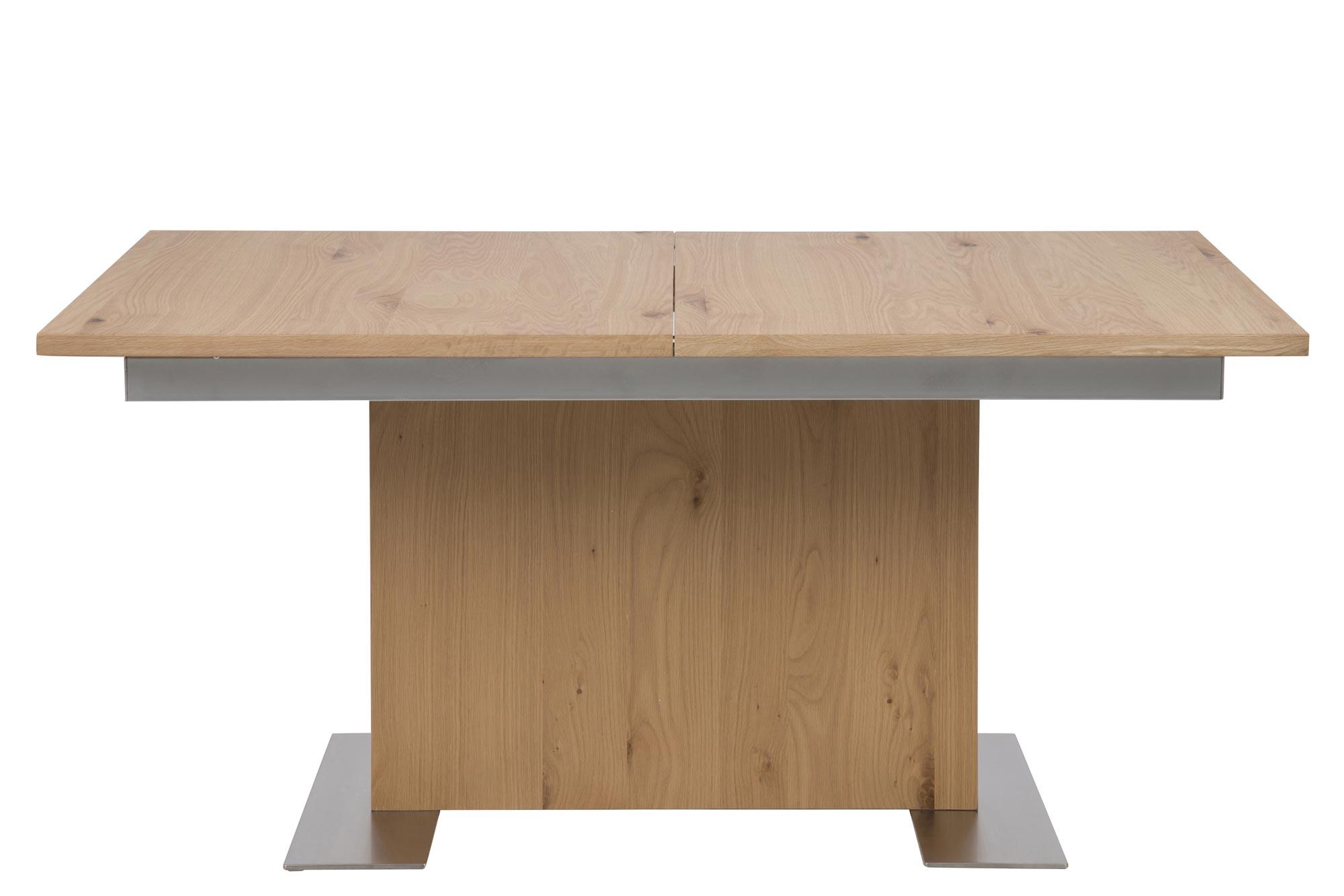 Brick spisebord - Eg finér, m. udtræk (210x90 cm)