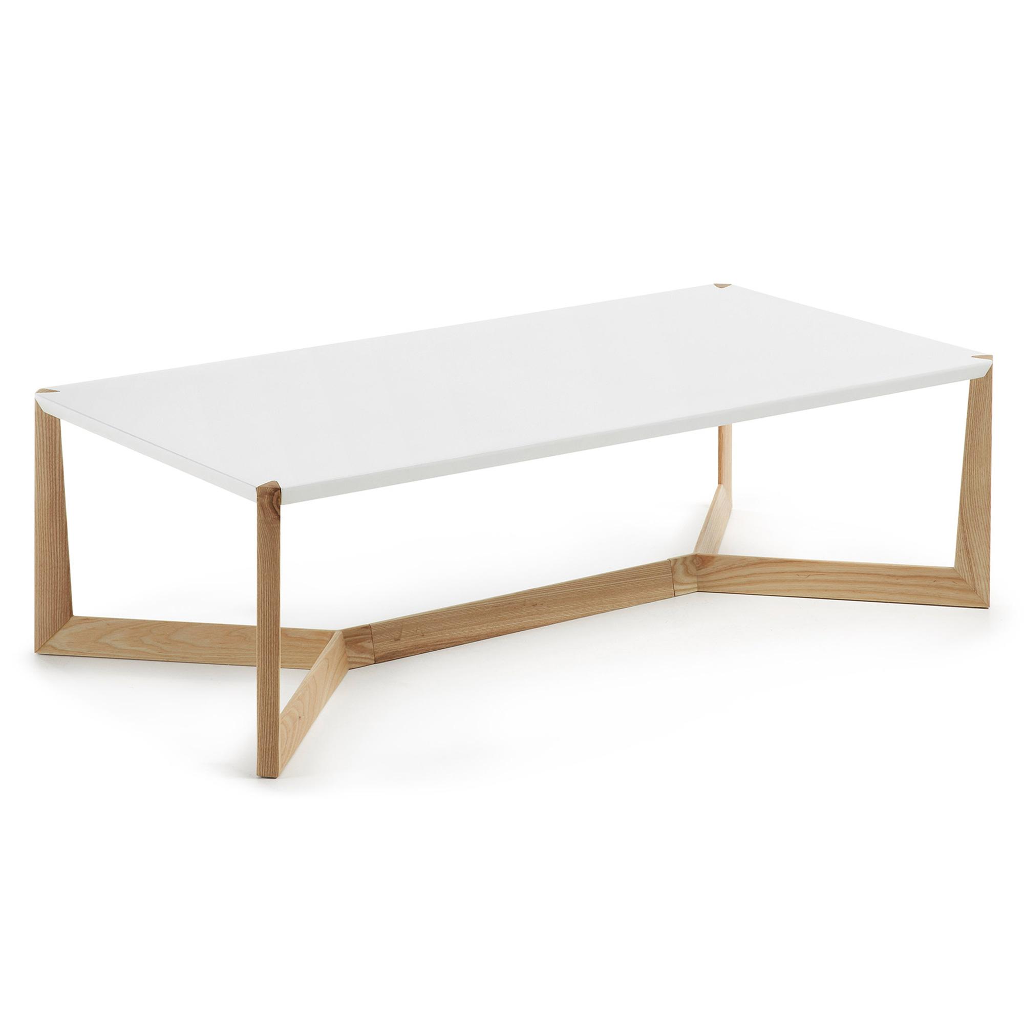 laforma Laforma duplex sofabord - hvid/natur træ, rektangulær (120x60) fra boboonline.dk