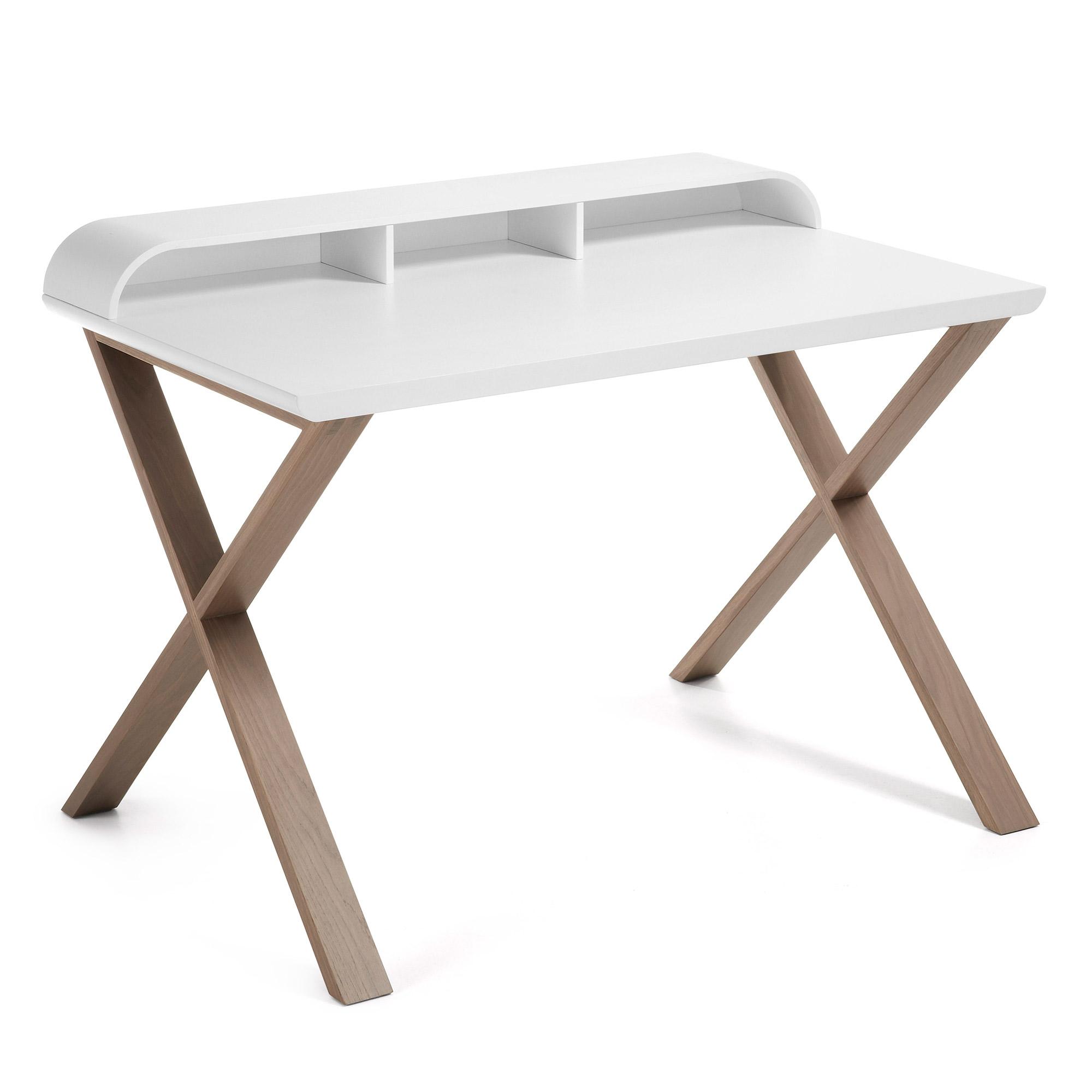 laforma Laforma success skrivebord - hvid/grå træ/egetræ, rektangulær (120x79) på boboonline.dk