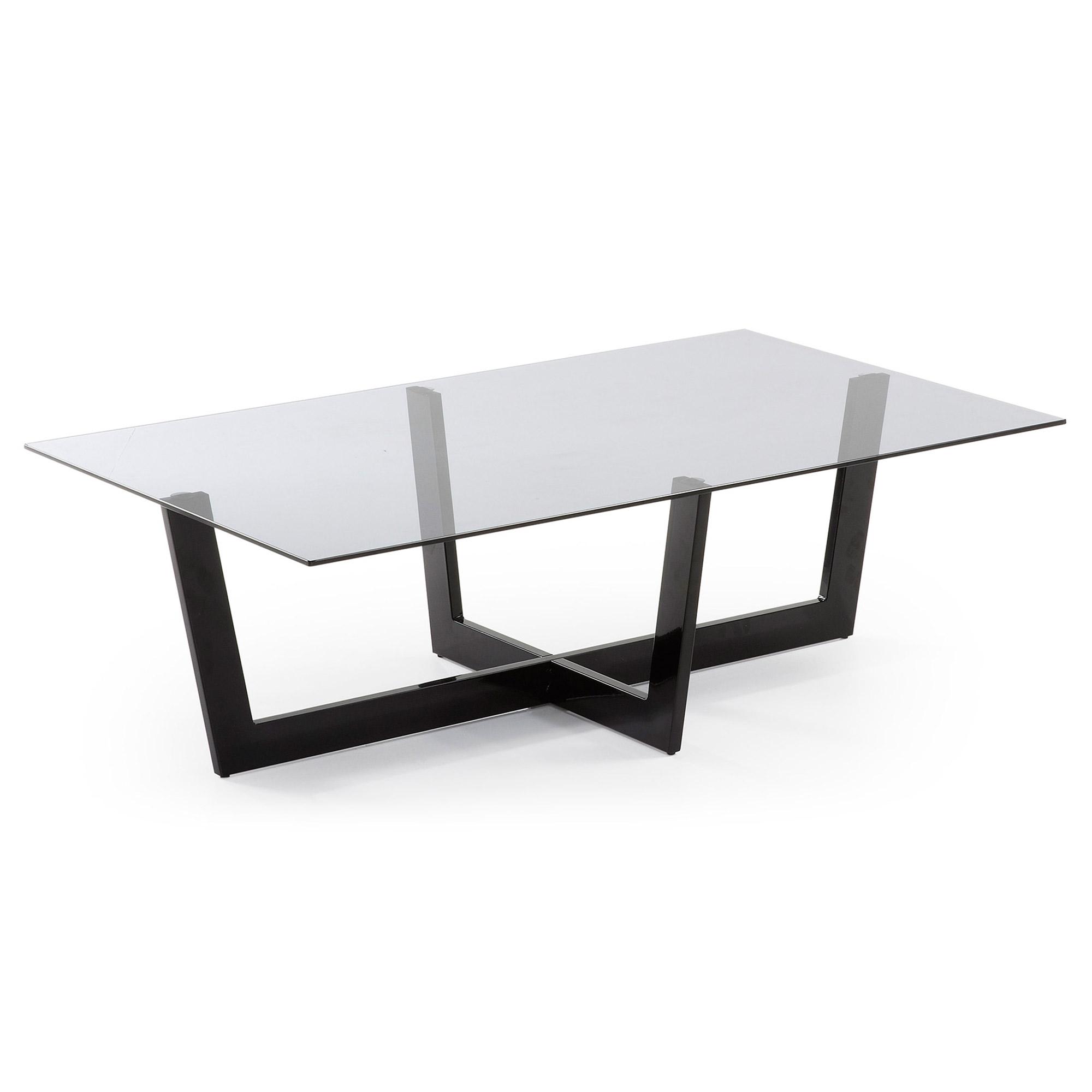 Laforma plum sofabord - grå/sort glas/stål, rektangulær (120x70) fra laforma på boboonline.dk