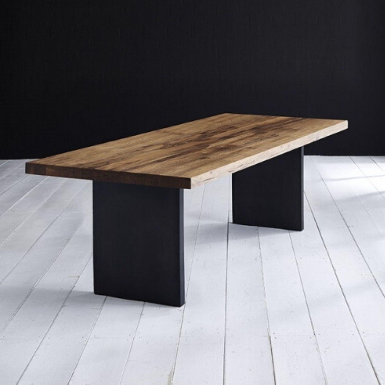 BODAHL Concept 4 You Plankebord - olieret eg m. lige kant og T-ben, m. udtræk 3 cm 240 x 100 cm