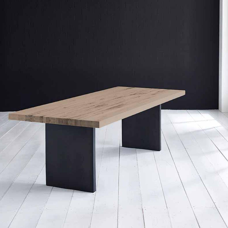 BODAHL Concept 4 You Plankebord - røget eg m. lige kant og T-ben, m. udtræk 3 cm 240 x 100 cm