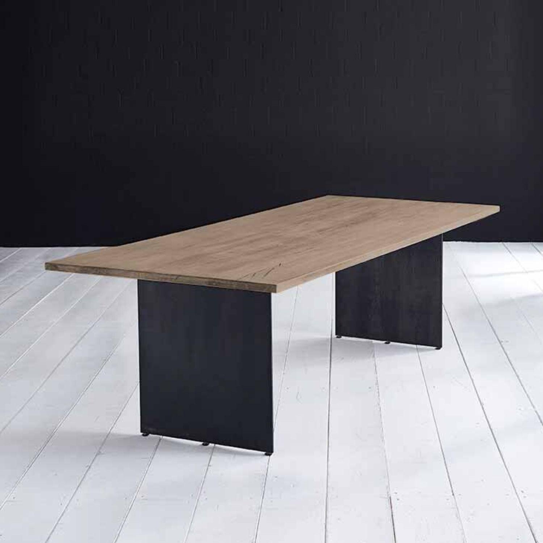 BODAHL Concept 4 You plankebord - røget eg, m. lige kant og Line ben 6 cm 180 x 110 cm