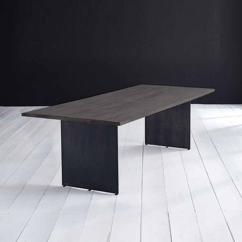 Billede af BODAHL Concept 4 You plankebord - moccasort eg, m. lige kant og Line ben 6 cm 240 x 100 cm