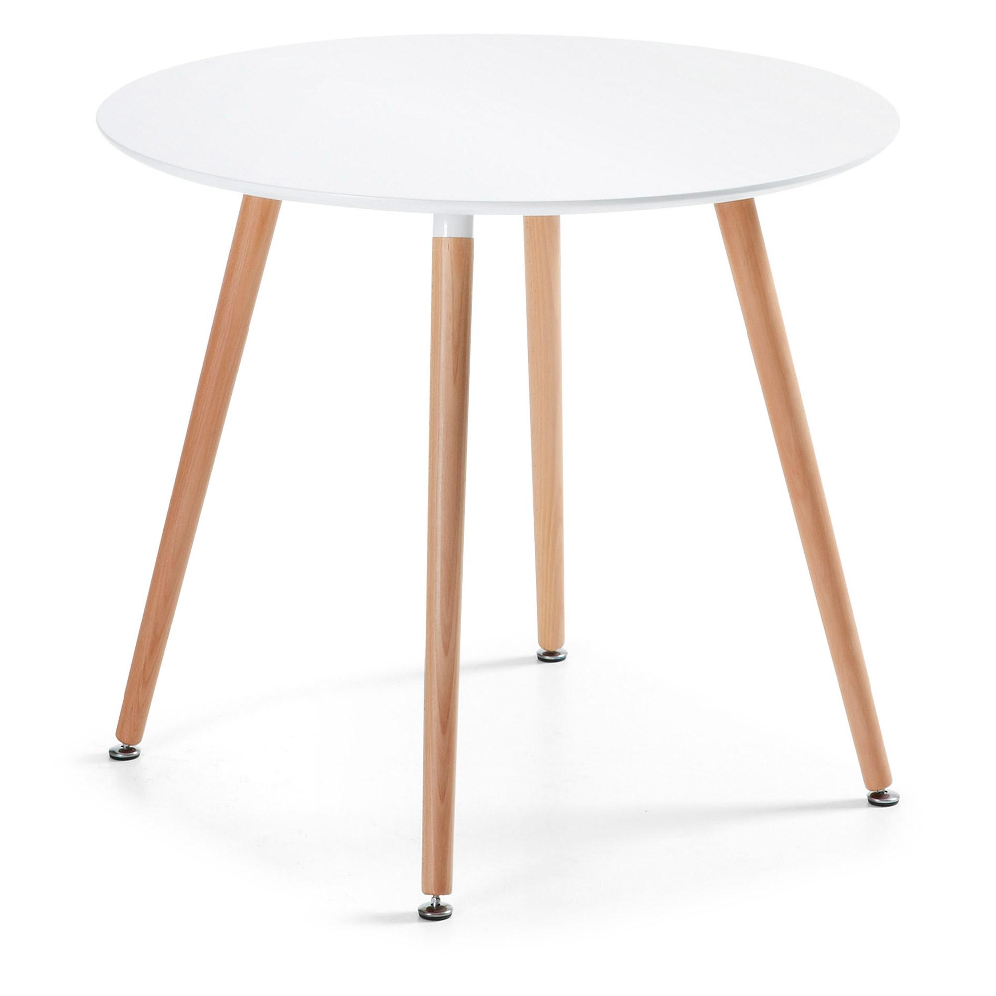 LAFORMA Daw spisebord - natur/hvid bøgetræ/træ, rund (Ø100)