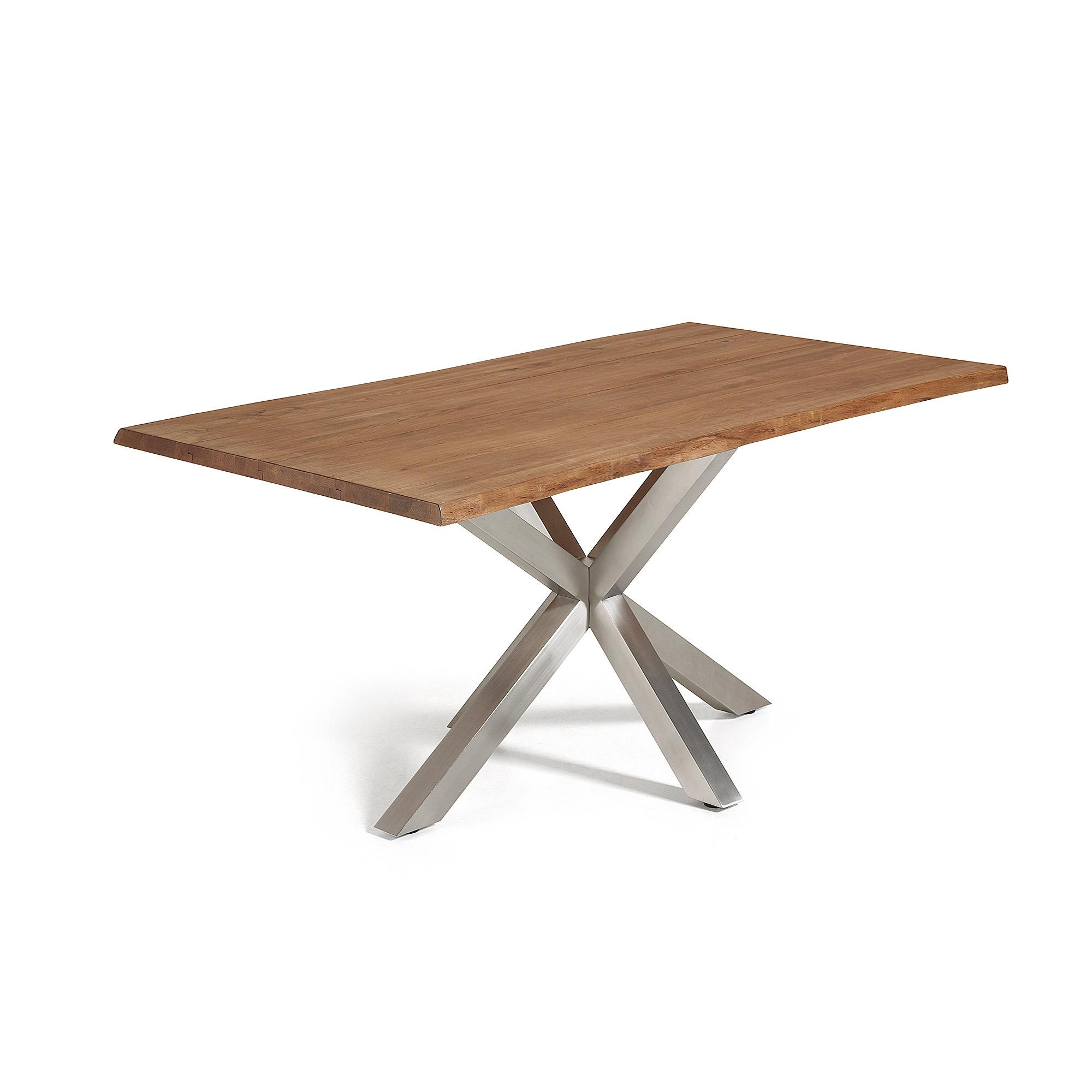 laforma – Laforma arya spisebord - natur/sølv træ/stål, rektangulær (180x100) fra boboonline.dk