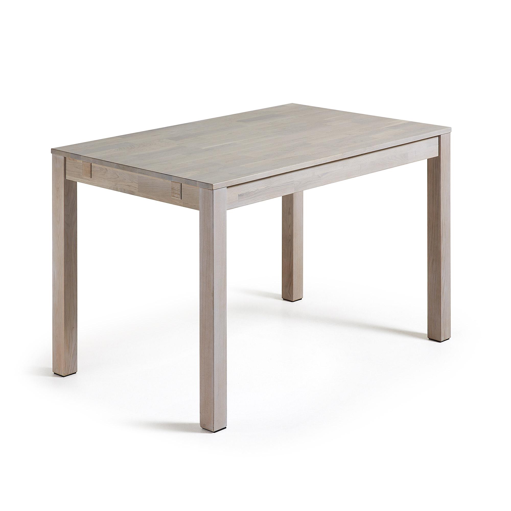 LAFORMA Indra spisebord - hvidvasket egetræ, m. udtræk, rektangulær (120x75)
